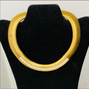 VINTAGE Gold Givenchy statement necklace